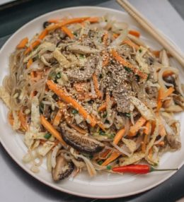 Noodles con verduras